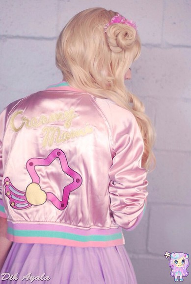 jacket pink jacket harajuku kawaii