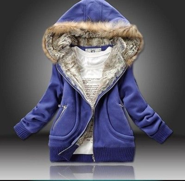 sweater hoodie winter outfits blue coat jacket sweatshirt