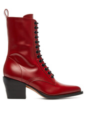 leather boots,lace,leather,dark,dark red,red,shoes