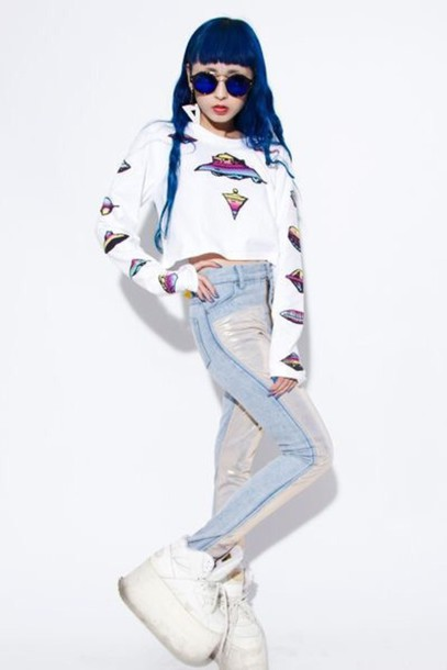 pants kawaii pastel grunge sweater