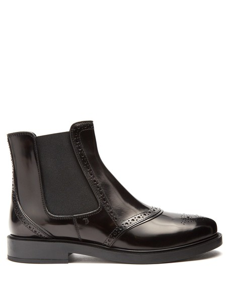 TOD'S chelsea boots leather black shoes