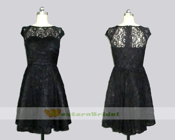 lace dress lace top wedding dress black lace dress lace bridesmaid dress black lace bridesmaid dress mother of the bride dress lace mother of the bride dress knee lengthh