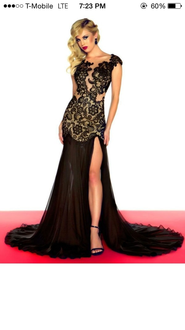 dress nude and black black and nude nude and black lace dress prom dress prom dress sexy prom dress beautiful dress prom dress