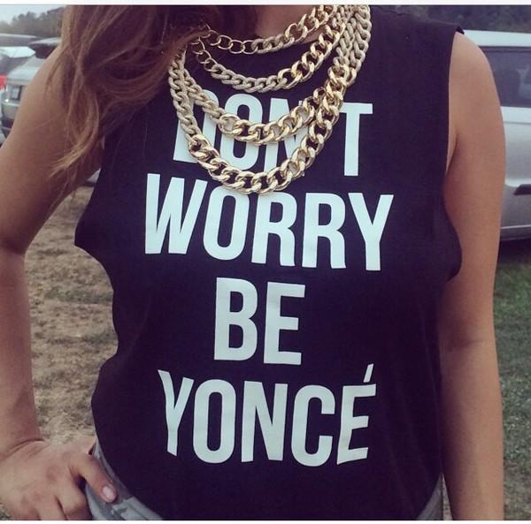 t-shirt yonce beyonce shirt black and white shirt black and white jewels yonce casual chic blogger t-shirt top