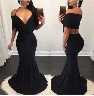 dress black dress summer dress sexy dress little black dress long dress party dress sexy party dresses special occasion dress trendy fashion style stylish gown off the shoulder off the shoulder dress outfit outfit idea summer outfits cute outfits spring outfits date outfit party outfits