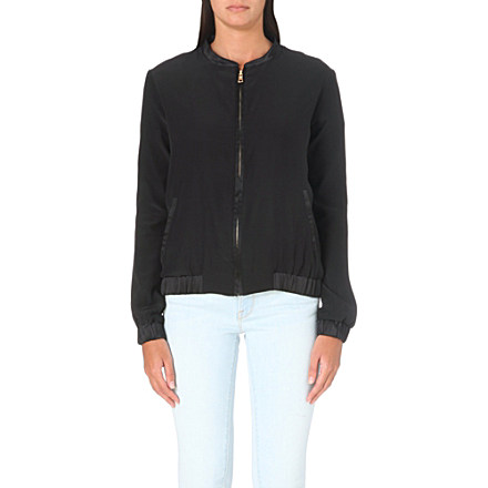 FRAME - Le Jacket silk bomber jacket | Selfridges.com