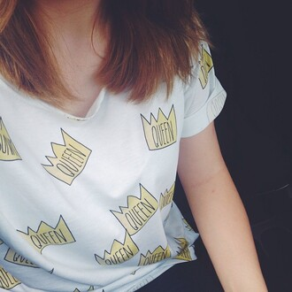 t-shirt yeah bunny queen girly tumblr