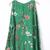 Green Cut Out Bell Sleeve Flowers Print Dress - Sheinside.com