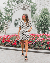 romper,polka dots,polka dots romper,black and white,shoes