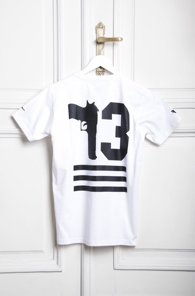 shirt white gun t-shirt tshirt 13
