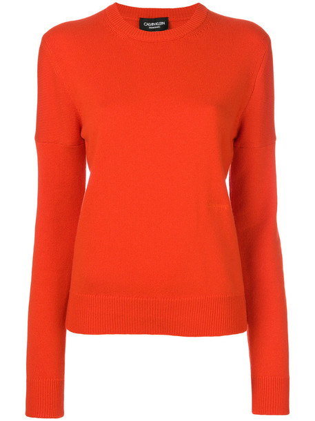CALVIN KLEIN 205W39NYC jumper women yellow orange sweater