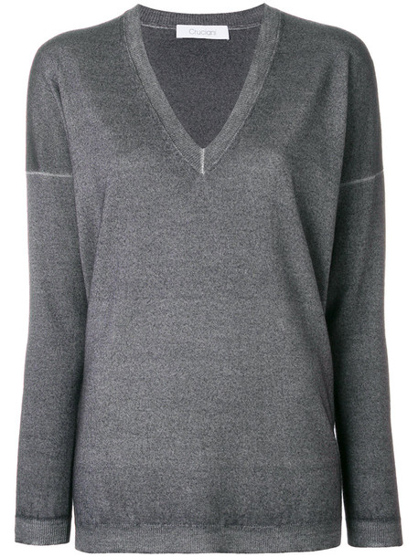 Cruciani sweater women wool grey