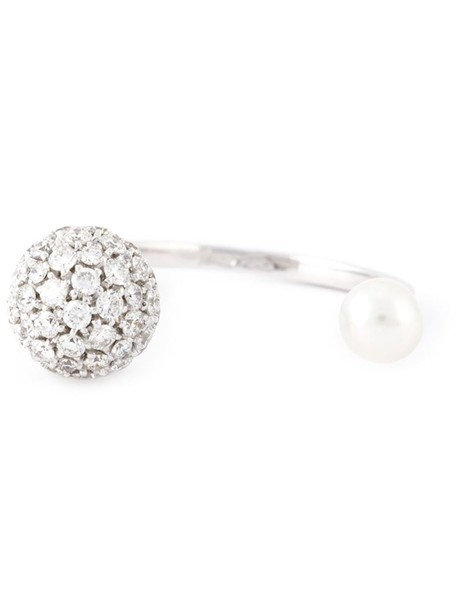 Delfina Delettrez women ring gold white grey metallic jewels