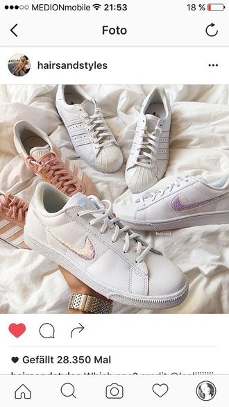 shoes nike white holographic glitter sneakers nike shoes