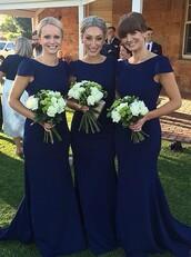 dress,bridesmaid,long mermaid bridesmaid dresses,navy bridesmaid dresses