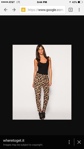 pants leopard print pants