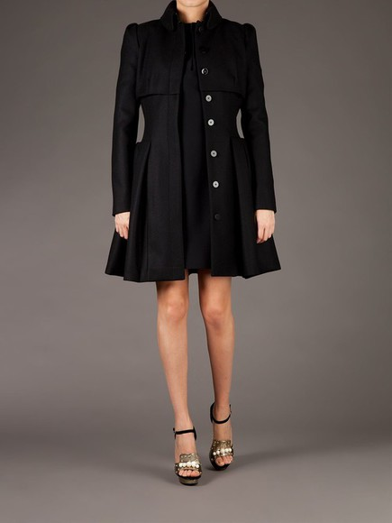 alexander mcqueen flared coat