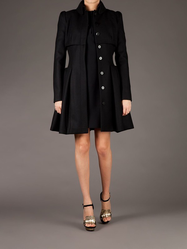 flared coat alexander mcqueen