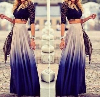 skirt clothes blouse maxi skirt top
