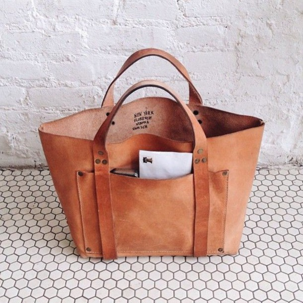 Bag: leather tote bag, brown leather tote, brown leather tote bag ...