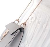 bag,grey,grey bag,purse,bags and purses,gold