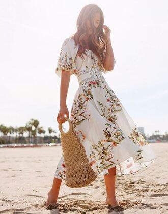 belt waist belt rocky barnes instagram midi dress dress spring outfits spring dress blogger bag