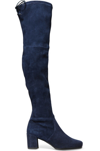 boots suede navy shoes