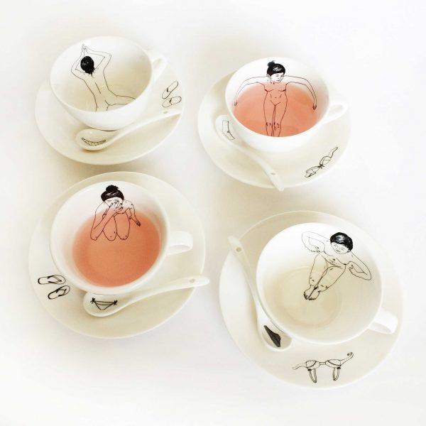 Undressed Tea Set designed by Esther Horchner | Het Paradijs