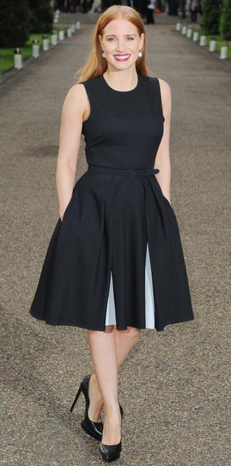 dress midi dress jessica chastain pumps cocktail dress