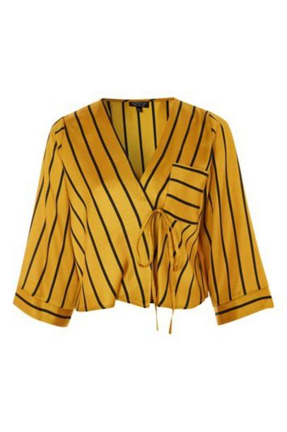 Topshop kimono top mustard