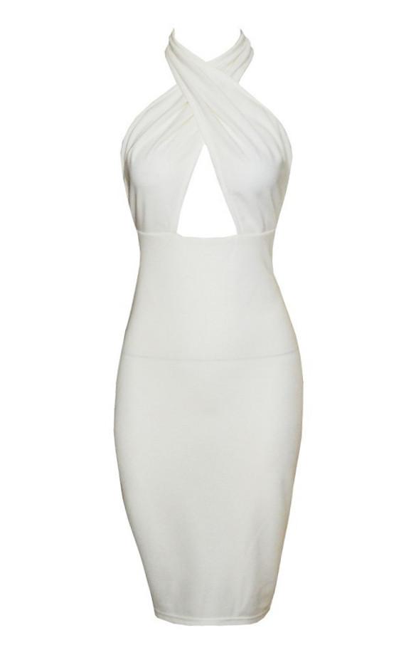 Cia cross bodycon dress