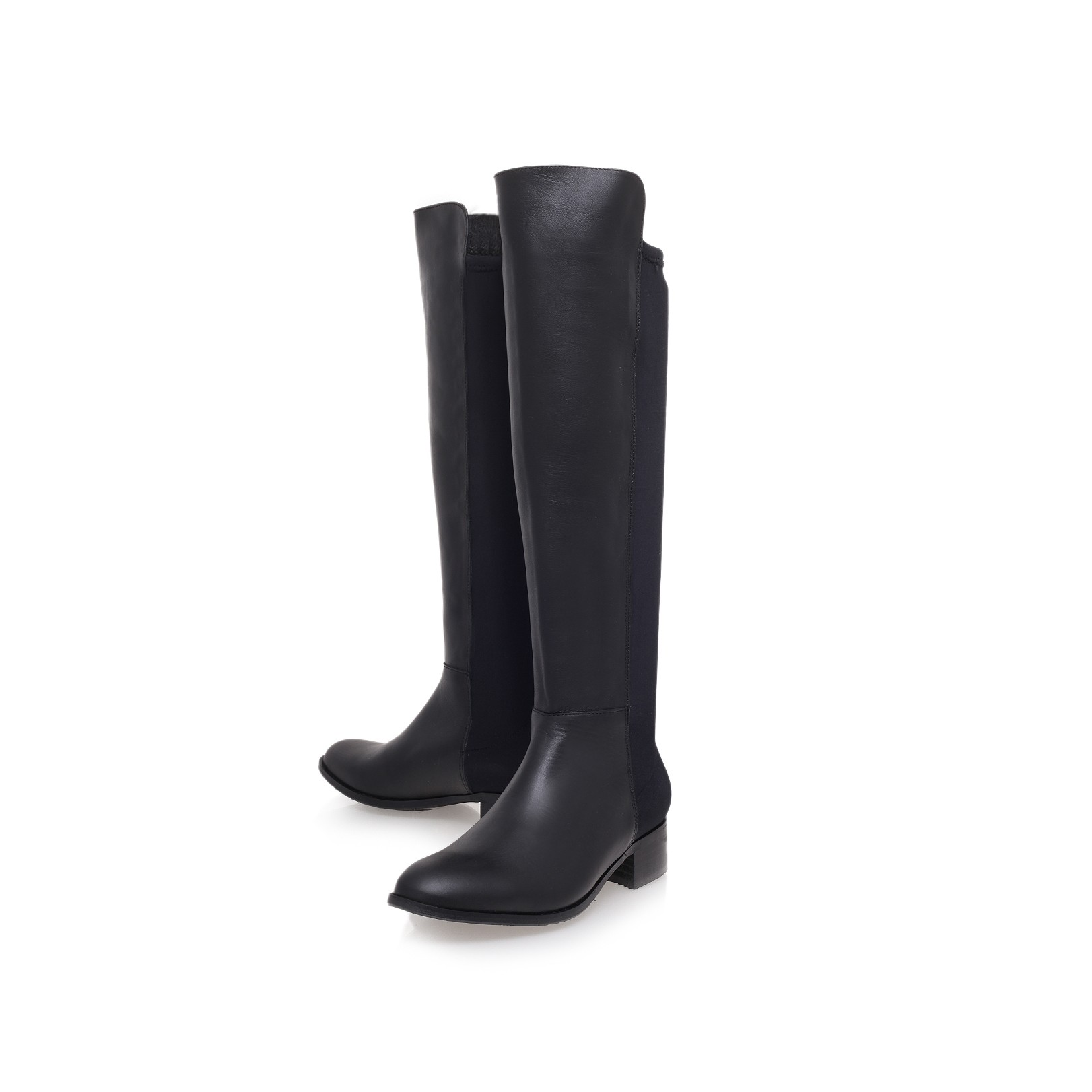Kurt Geiger | WILLIAM Black Low Heel Knee Boots by KG Kurt Geiger
