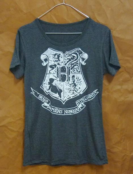 t-shirt hogwarts tshirt women shirts women tops cute clothing harry potter shirt