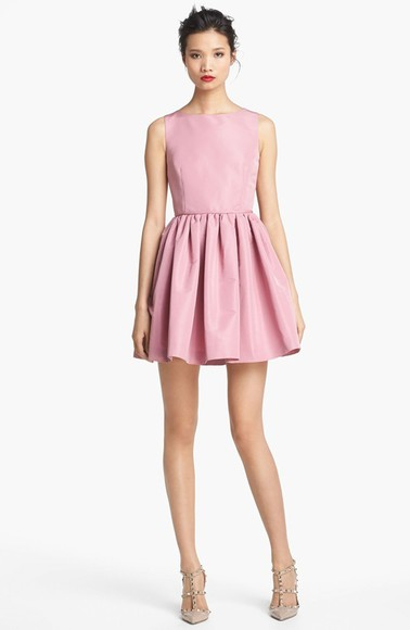 dress pink couture bcbg Valentino nordstrom chic