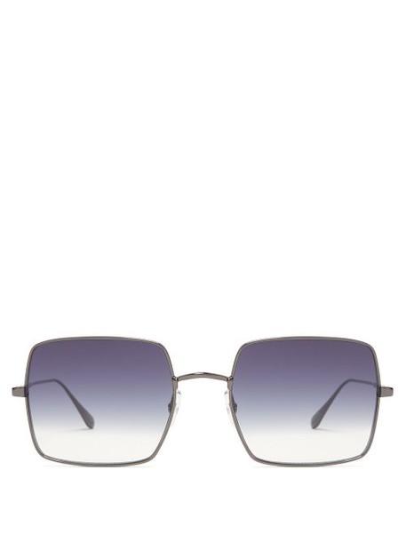 Garrett Leight - Crescent Oversized Square Sunglasses - Womens - Blue