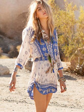 romper mynystyle trendy tribal pattern fashion boho dress