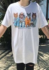 top,t-shirt,nasa,nasa shirt,cats,cat lovers,kennedy