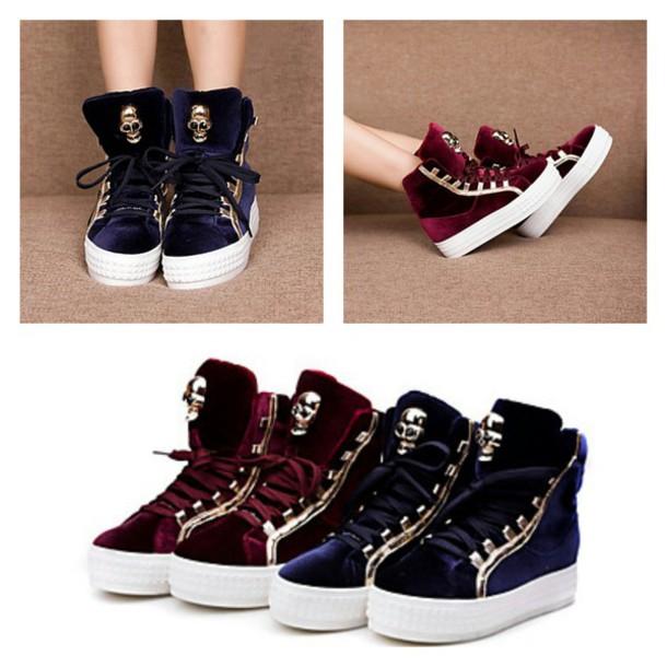 shoes skull shoes skull skull platform shoes navi blue