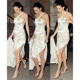 dress kendall jenner backless sexy dress prom dress nude dress beige dress halter dress