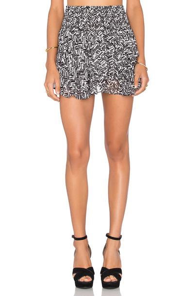 Misa Los Angeles skirt ruffle white black