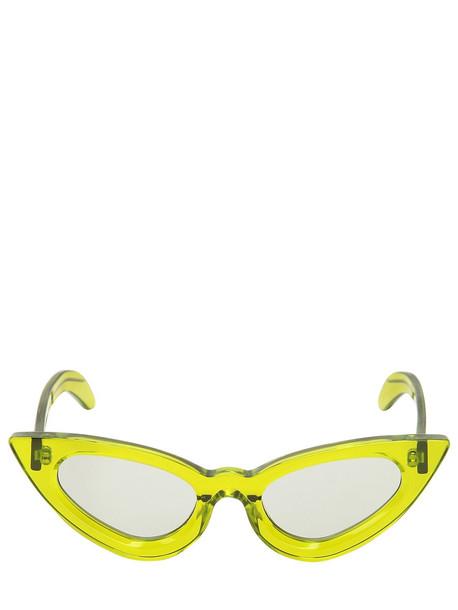 transparent sunglasses green mint