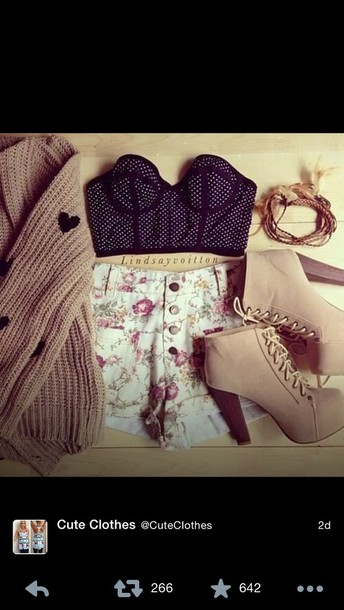 shorts shoes skirt sweater