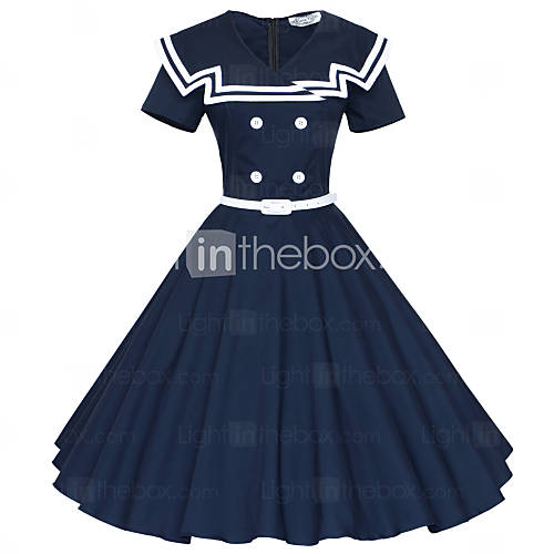 36.99] Maggie Tang Women\'s 50s Vintage Nautical Sailor Rockabilly ...