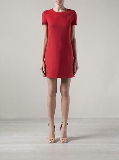 Paule Ka Felt Shift Dress - Angela's - Farfetch.com