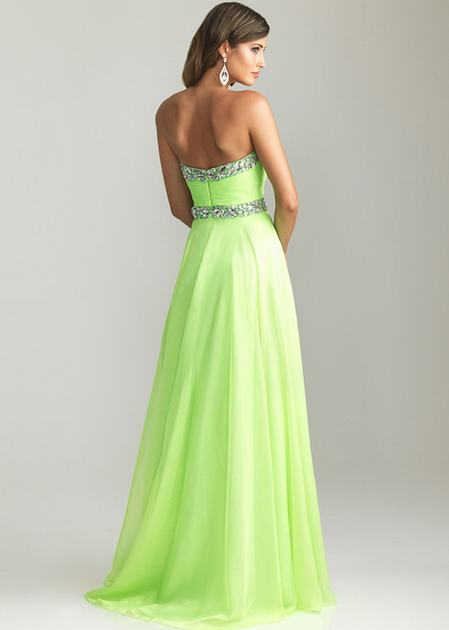 White And Green Prom Dresses 82