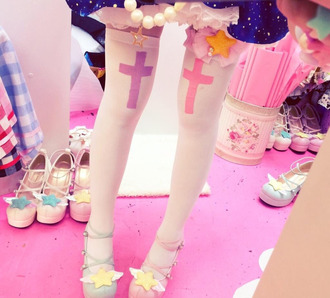socks lolita cross kawaii tights jewels nail accessories