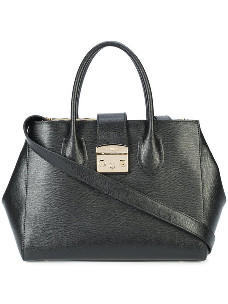 Furla women bag tote bag leather black