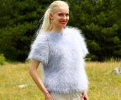 blouse,supertanya,grey,soft,fluffy,fluffu,crewneck,mohair,sweater,jumper,angora,cashmere,wool,alpaca