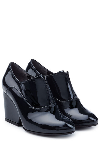 leather ankle boots boots ankle boots leather blue shoes