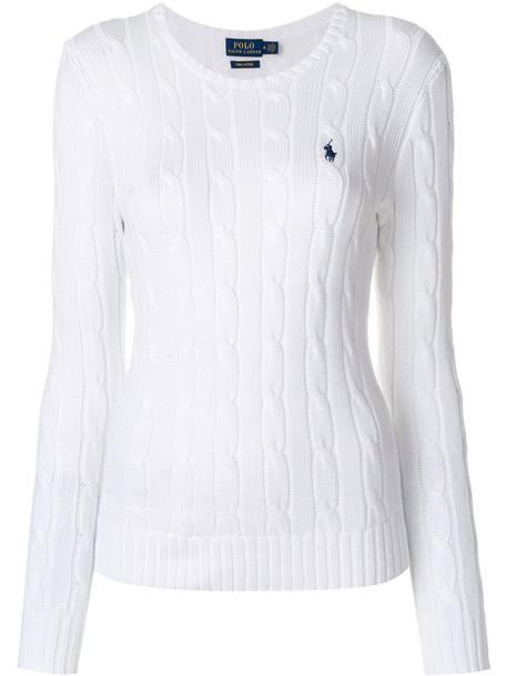 Polo Ralph Lauren sweater women white cotton knit